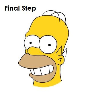 300x388 How To Draw Homer Simpson