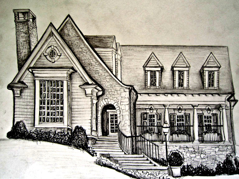 768x576 Gallery Drawing Of Homes,