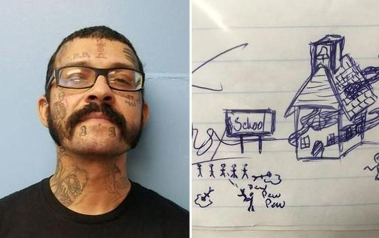 750x472 Man Arrested For Drawing School Attack On Child's Homework