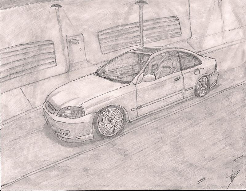 800x623 Honda Civic Em1 Drawing By Predator11