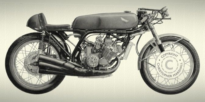 673x336 Classic Motorcycle Drawing Amp Prints Gt Constructeur
