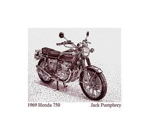 300x262 Honda Motorcycle Drawings Fine Art America