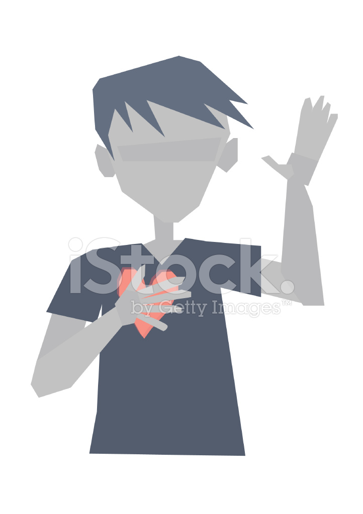 722x1024 Hand On Heart Honesty Truth Promise Vector Drawing Stock Vector