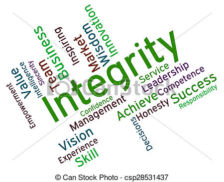 450x367 Integrity Words Shows Virtue Text And Honesty. Integrity