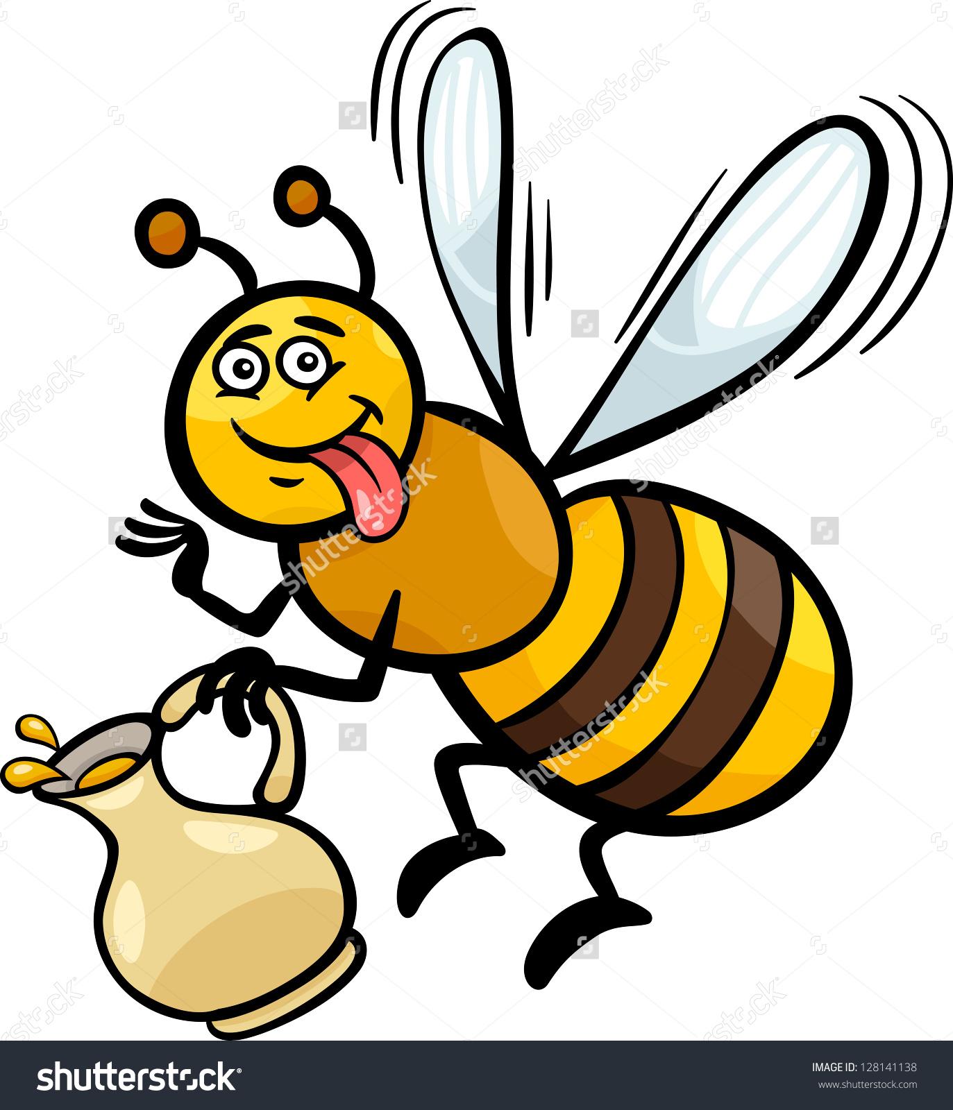 1373x1600 Honey Bee Drawing Cartoon Cartoon Illustration Funny Bee Pot Honey