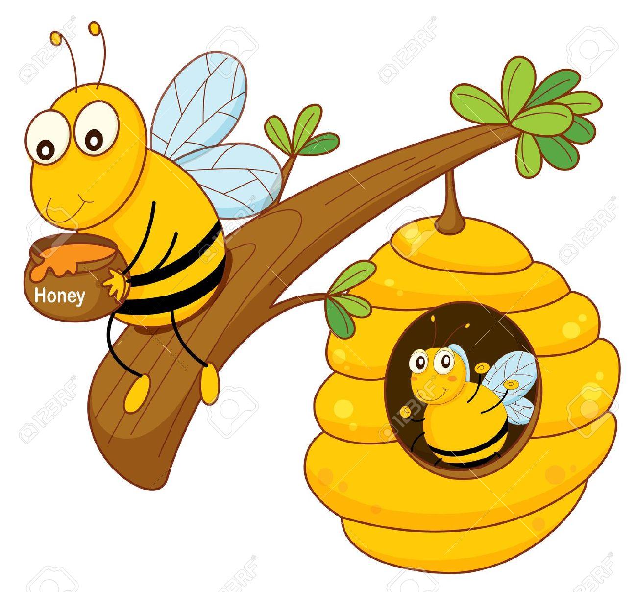 1300x1208 Honey Bee Drawing Cartoon Honey Clipart Animated