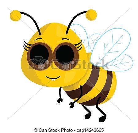 450x436 Cute Cartoon Bee Clip Art Vector