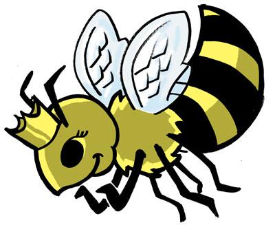 400x327 Free Cartoon Queen Bee, Hanslodge Clip Art Collection