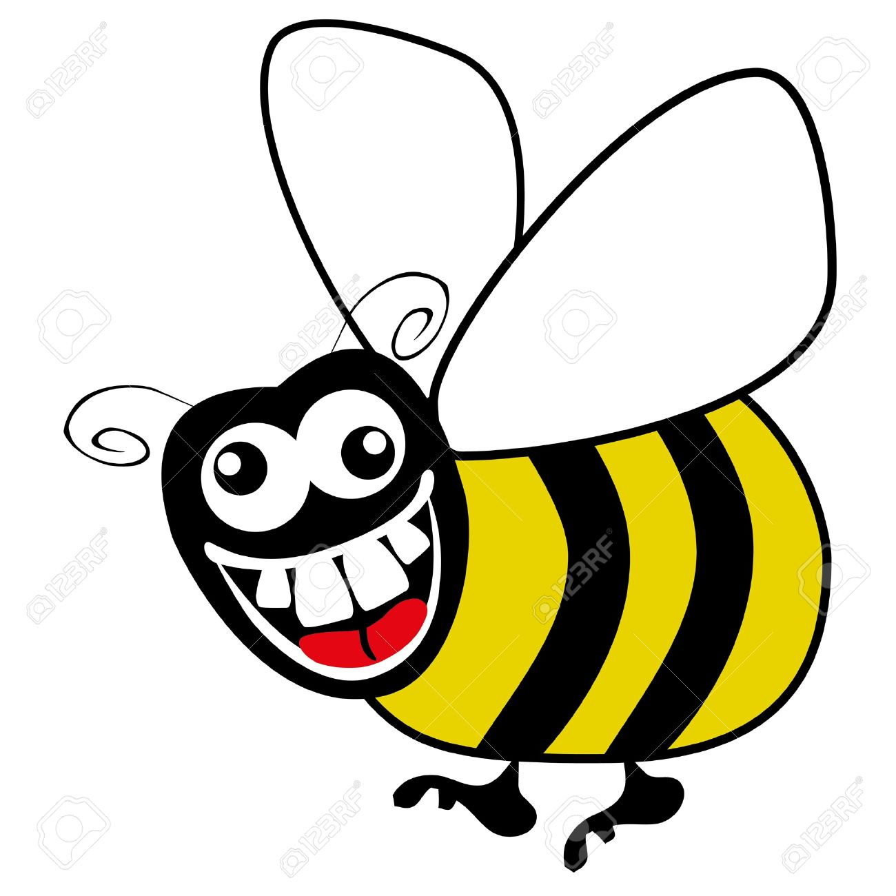 1300x1300 High Tech Cartoon Bumble Bee Pictures Happy Flying Or Honey