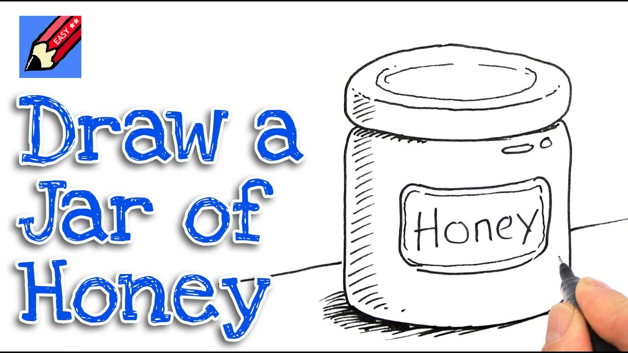1280x720 How To Draw A Jar Of Honey Real Easy Step By Step
