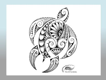 440x330 Modern Polynesian Style Honu Tattoo Design Polynesian Tattoos