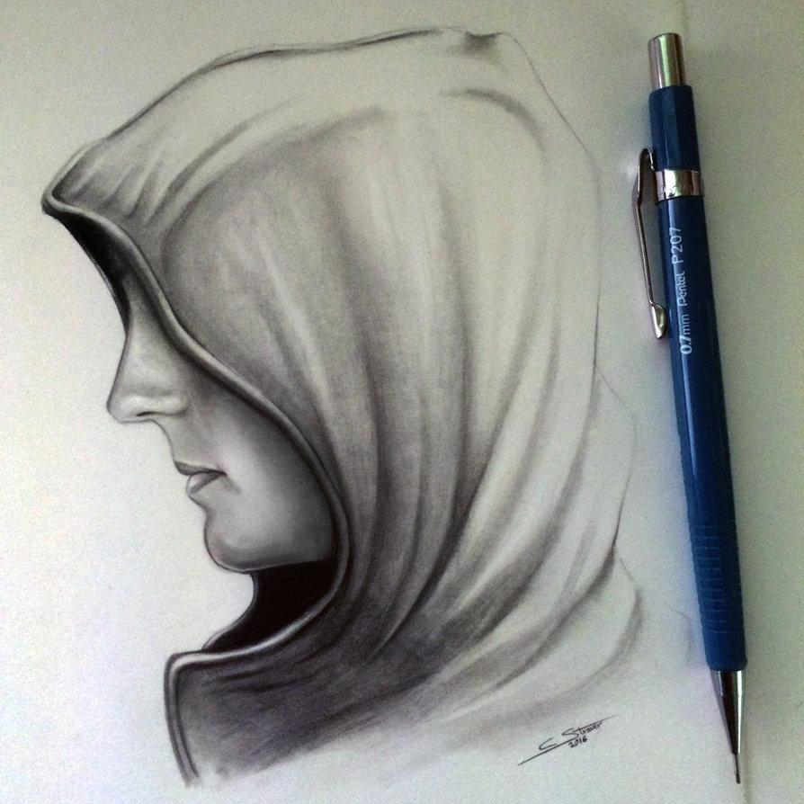 894x894 Hood Drawing Study