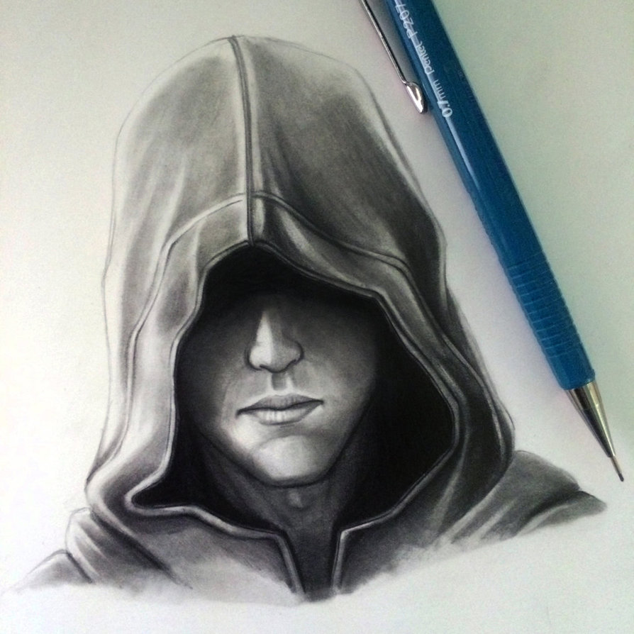 894x894 Hood Drawing Study By Lethalchris