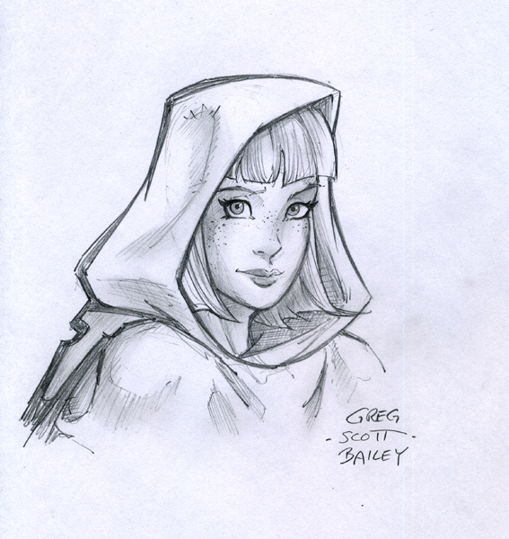 567x600 Lilly Hood Sketch By Gregscottbailey