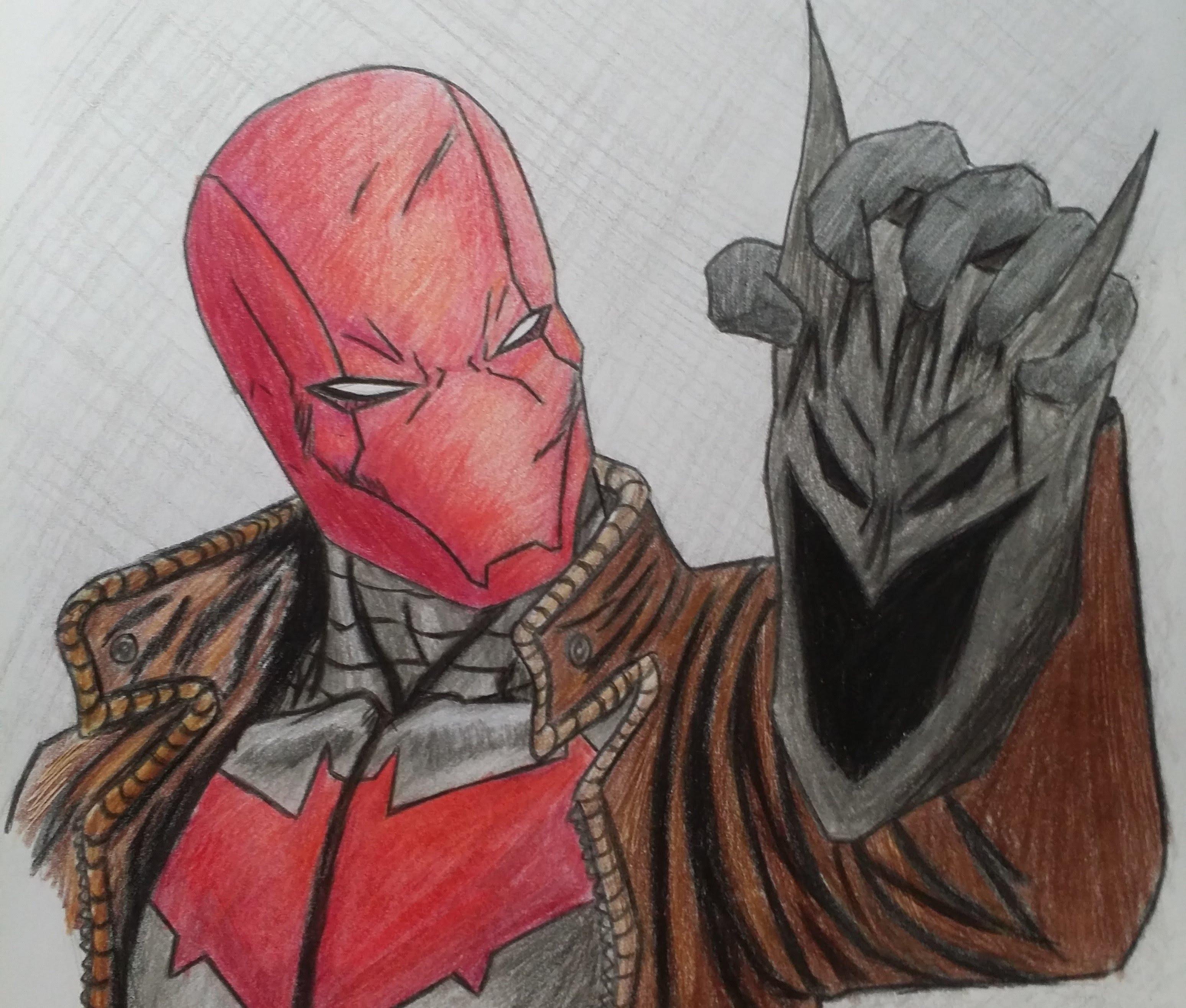 3096x2631 Red Hood Drawing