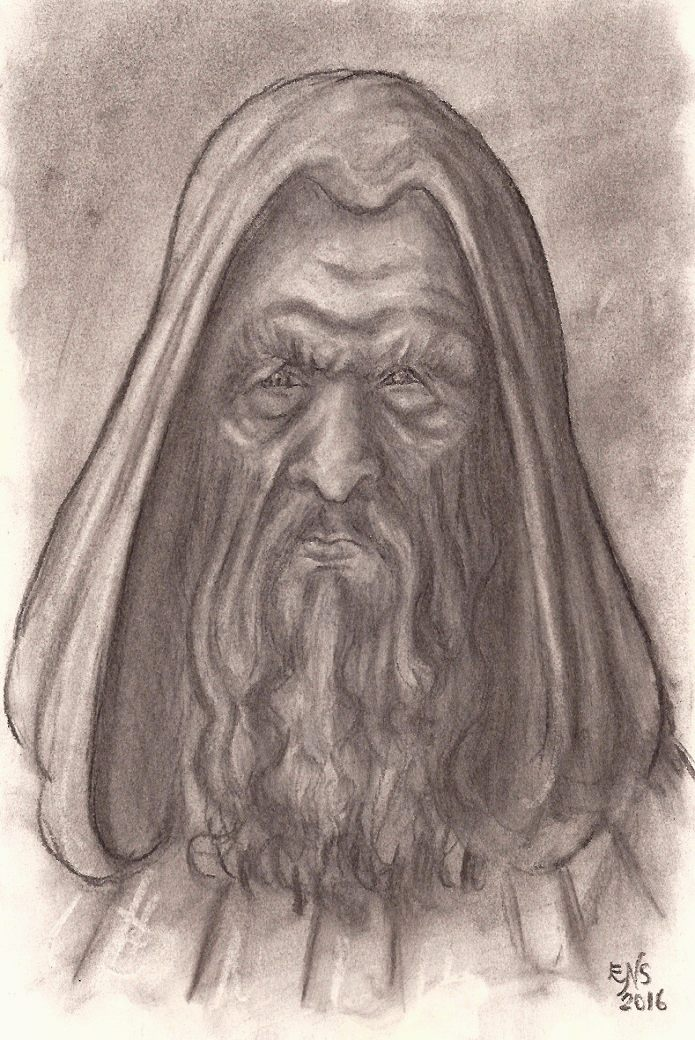 695x1040 Old Hooded Man By Qodaet