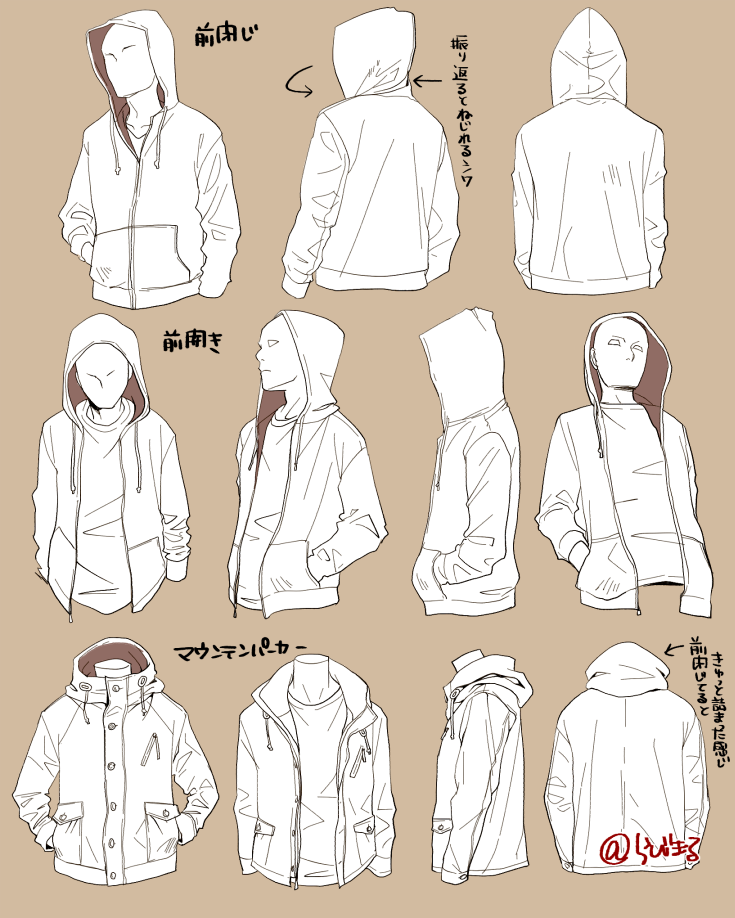 735x918 the chances you will have to draw characters wearing hoodies are