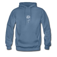 190x190 Drawing Of A White Rose Hoodie Spreadshirt