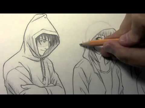 480x360 How To Draw Hoodies, 3 Different Ways