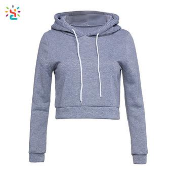 350x350 Women Cropped Hoodie Ladies Sweatshirt Plain Hoodie Custom Logo