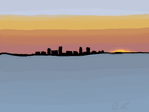 500x375 Live Canvas Sketchpan [Fire On The Horizon]