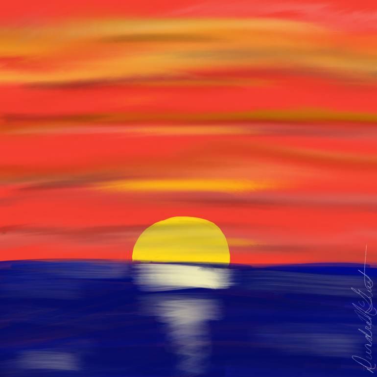770x770 Saatchi Art Down The Horizon Drawing By Deirdre Mcguirt