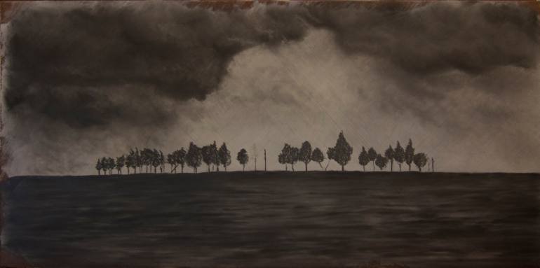 770x383 Saatchi Art Trees On The Horizon Drawing By Erik Nohalty