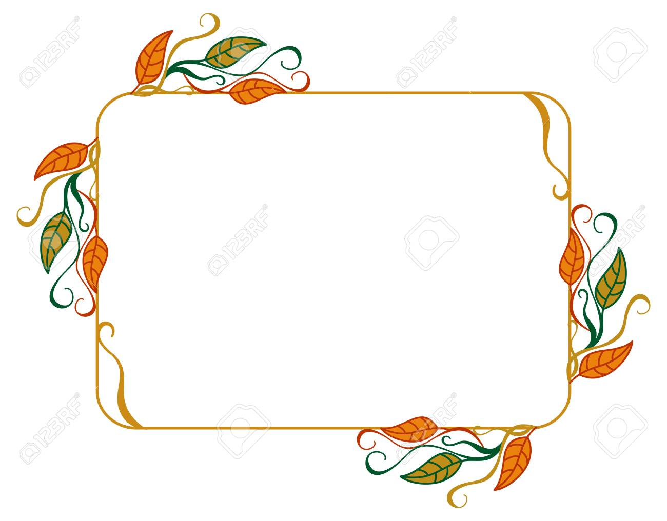 1300x1016 Horizontal, Color, Decorative, Leaves, Vector,