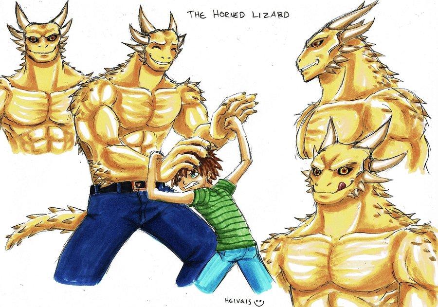 900x631 The Horned Lizard By Heivais