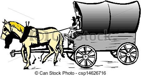 450x243 Horse Cart Vector Vector Clip Art