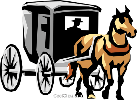 480x351 Horse Drawn Carriage Royalty Free Vector Clip Art Illustration