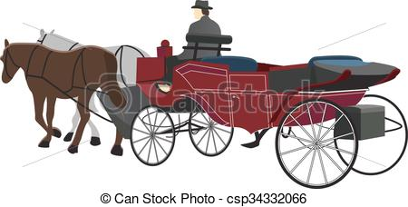 450x228 Horse Drawn Carriage Illustration. Horse Drawn Carriage