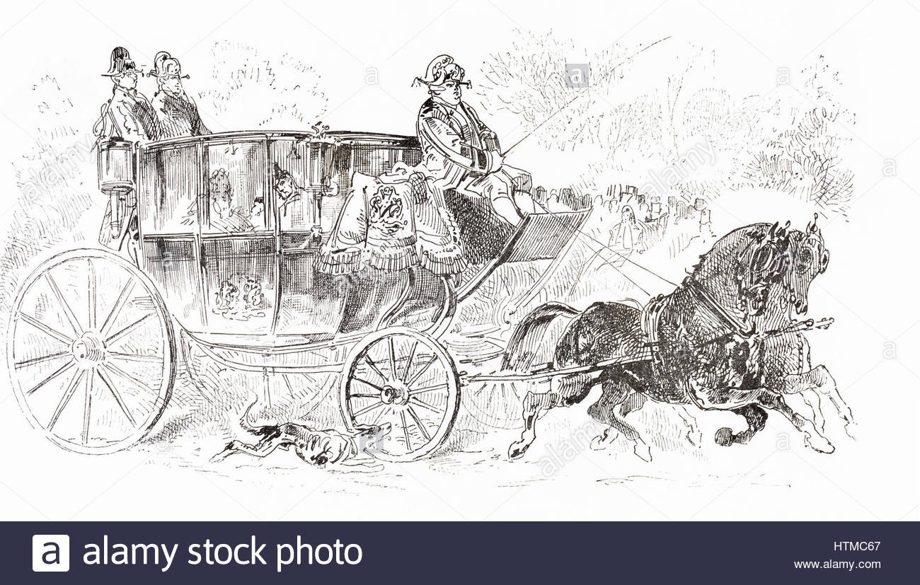 1300x827 A 19th Century Horse Drawn Carriage. From Album Evenement, Prime