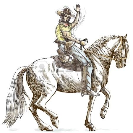 450x450 Cowboy On Horseback