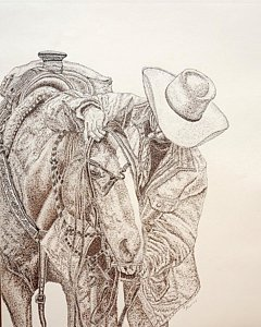 240x300 Cutting Horse Drawings Fine Art America