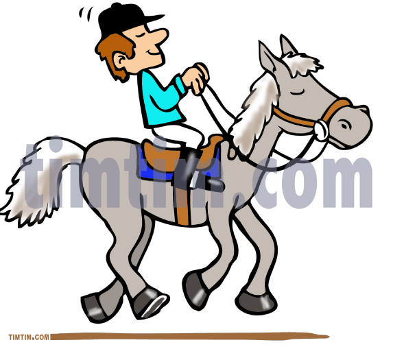 573x509 Free Drawing Of Horseback Rider From The Category Farm Animals