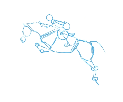 499x414 Live Laugh Ride How To Draw A Jumping Horse Drawinghow To'S