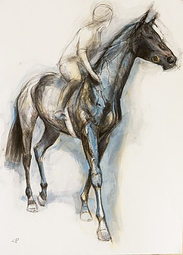 359x500 Striding Horse, Louise Pallister