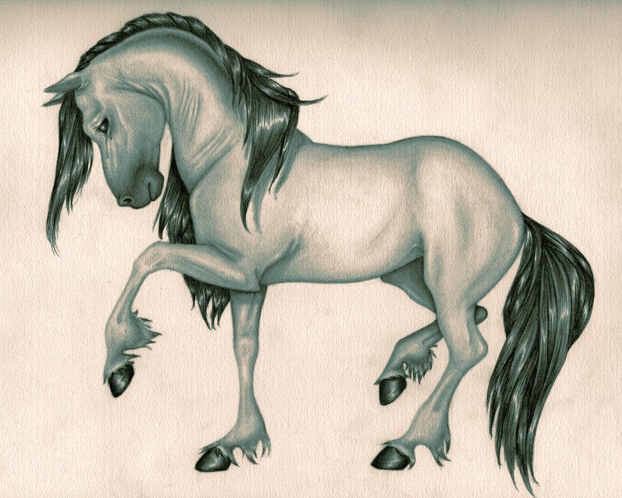 900x720 Horse Drawing From Line Art By Shaktigoddess1