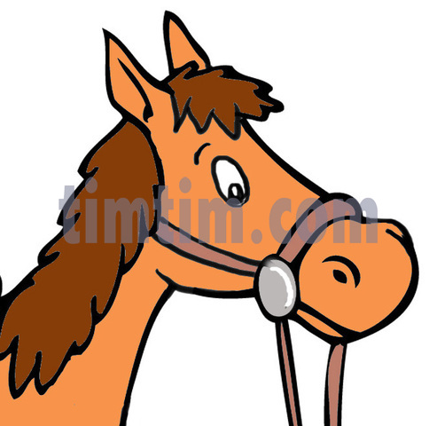 493x480 Free Drawing Of Horse And Bridle From The Category Farm Animals