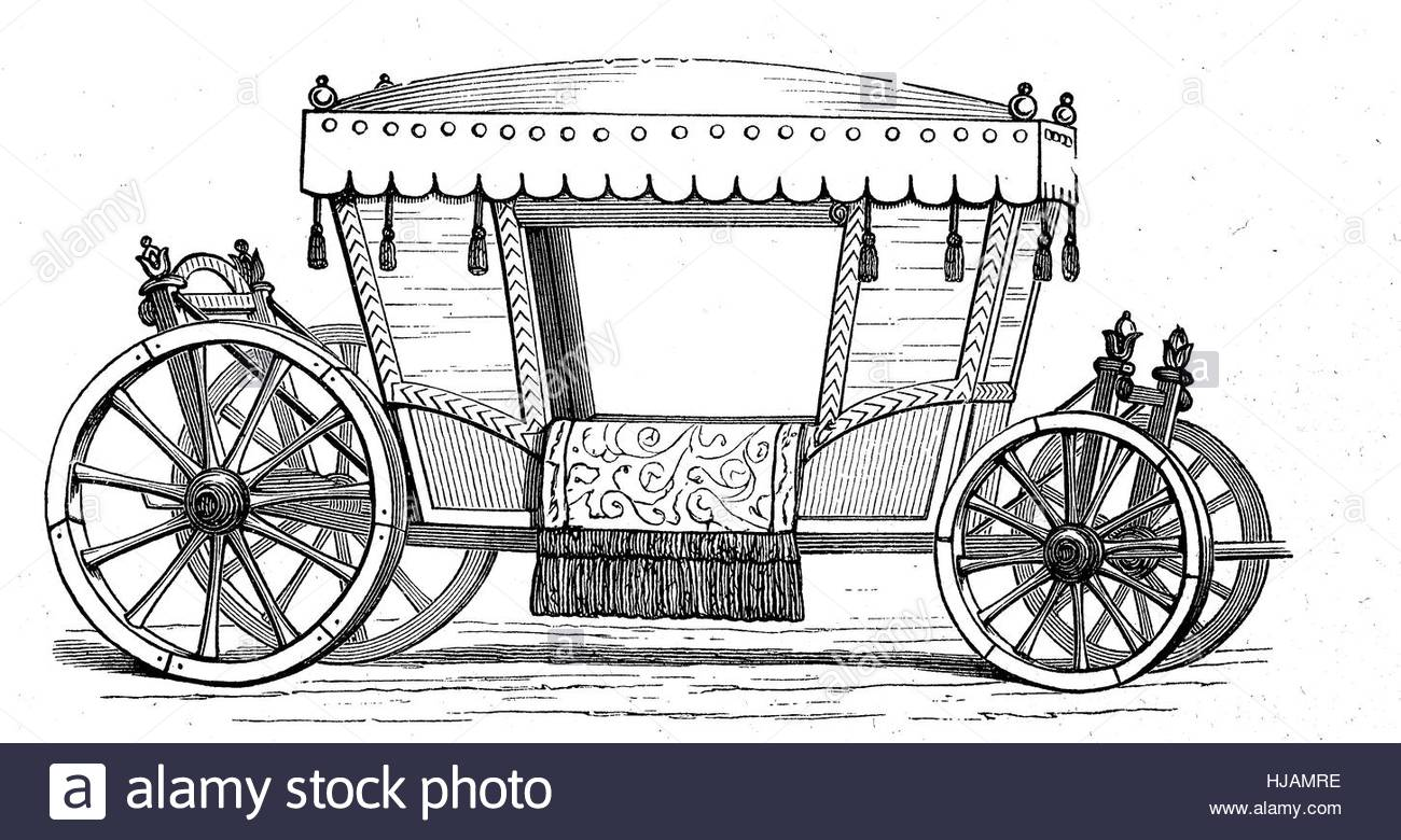 1300x780 Horse Carriage, Coach From The Time Of 1650, Historical Image