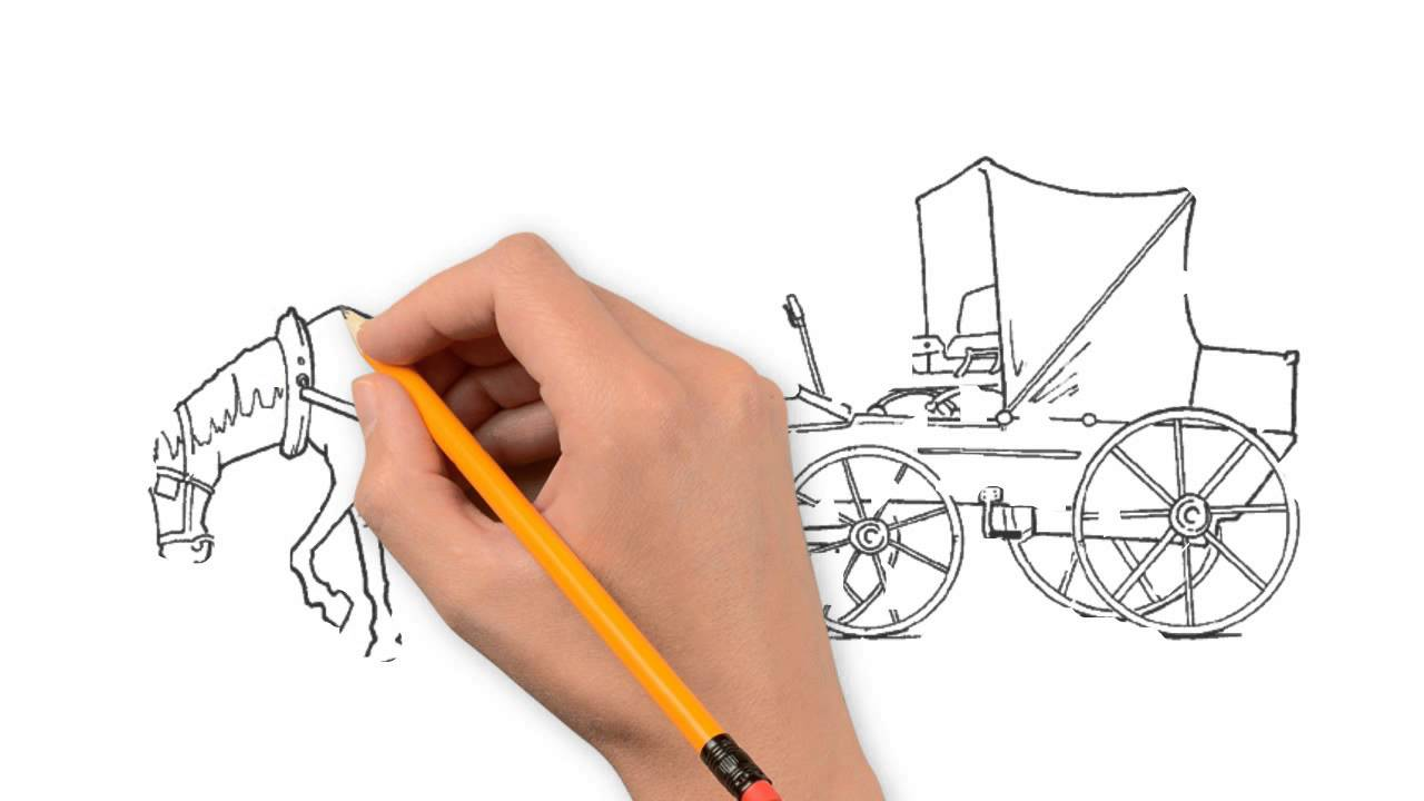 1280x720 A Horse And Carriage Nature Pencil To Draw Step By Step