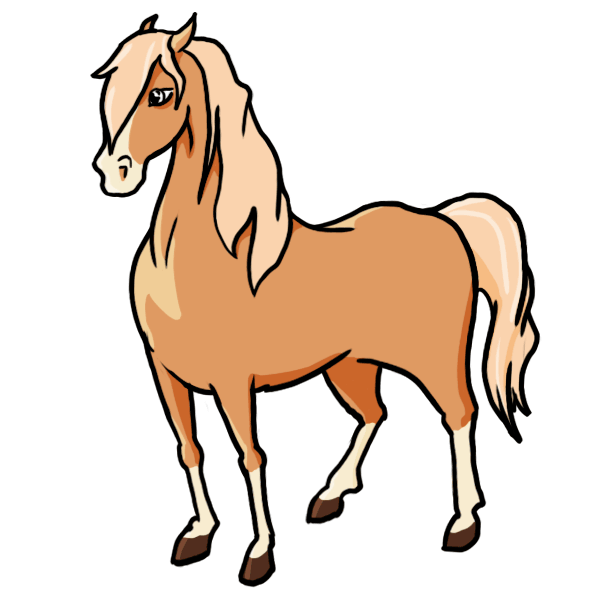 600x600 Cartoon Horse Drawings