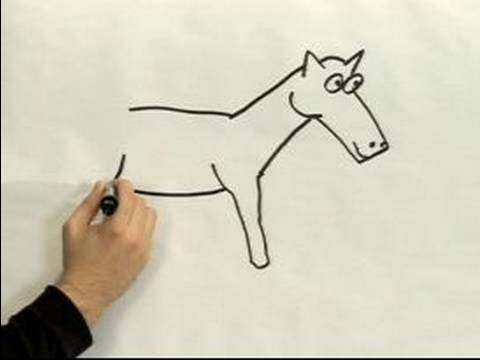 480x360 Easy Cartoon Drawing How To Draw A Cartoon Horse