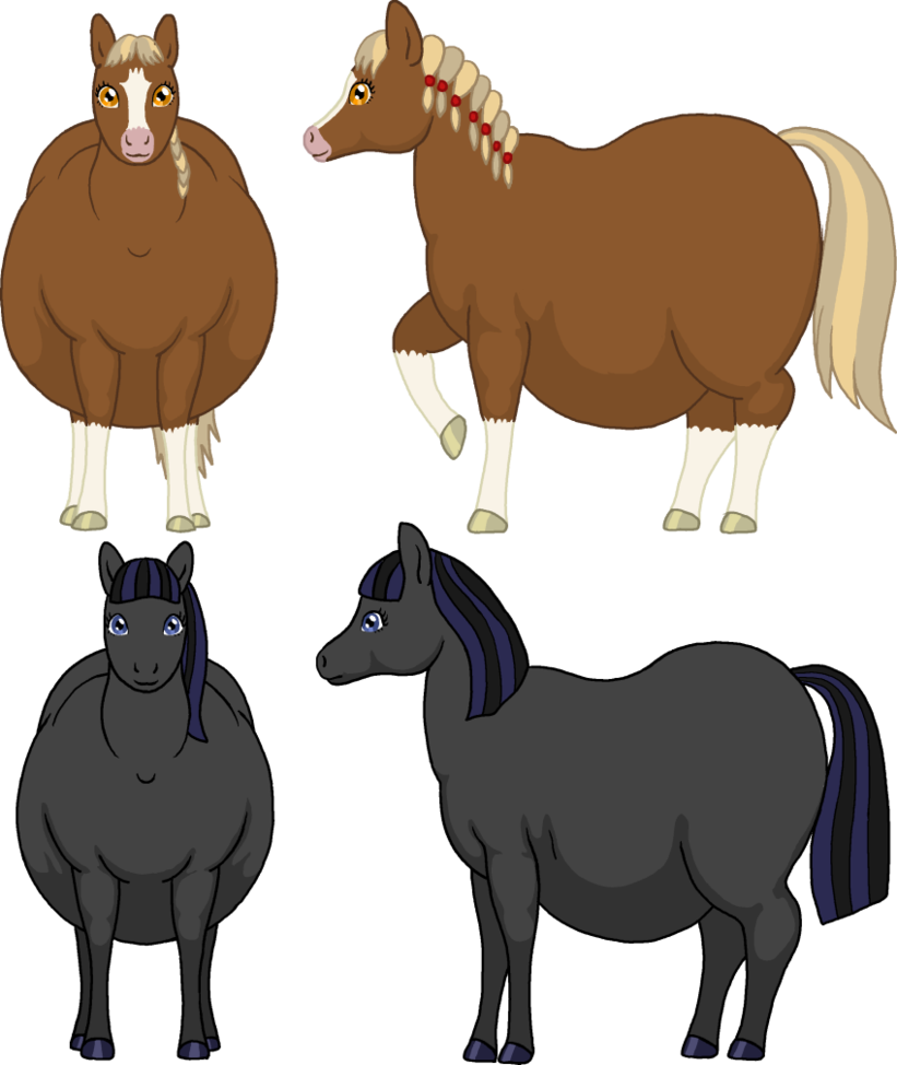 821x974 Fat Horse Characters By Soobel