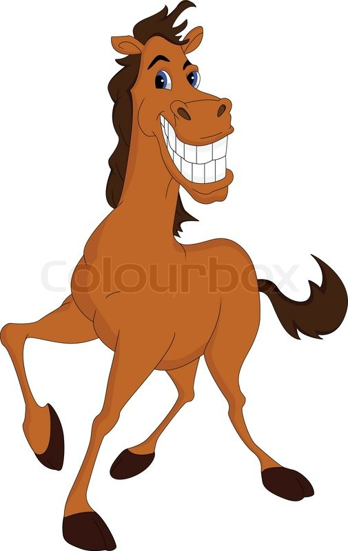 505x800 Funny Horse Cartoon Vector Colourbox Cartoon Drawing