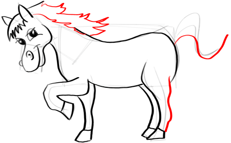 450x280 How To Draw Cartoon Horses With Easy Step By Step Drawing Tutorial