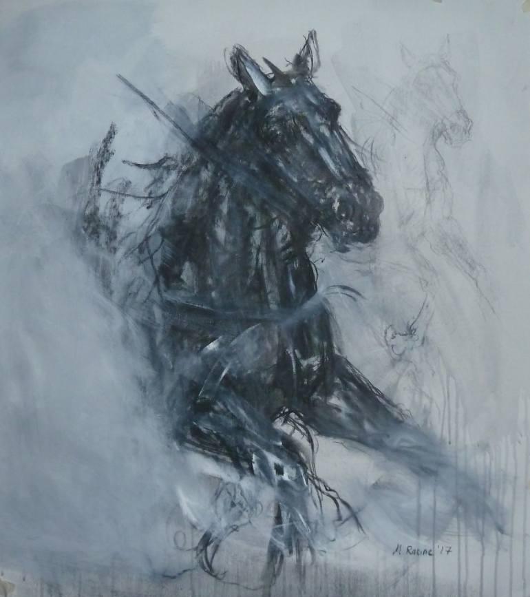770x867 Saatchi Art Horse Head Charcoal Drawing By Mandy Racine