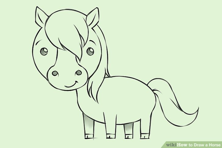 728x485 4 Ways to Draw a Horse