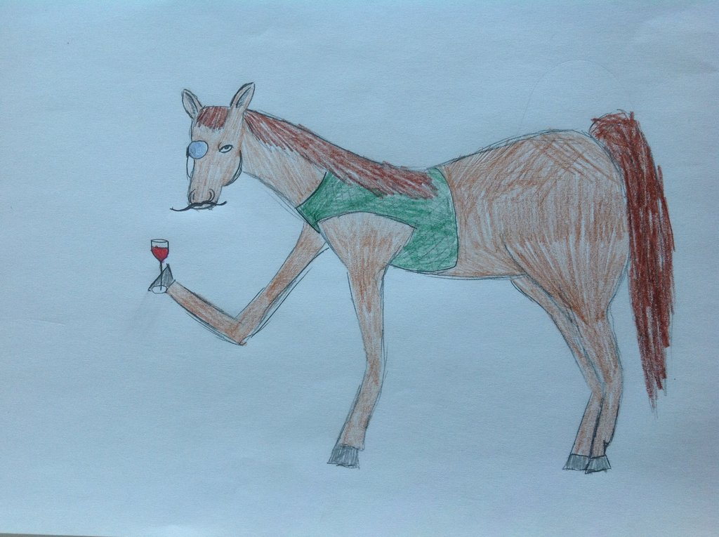 1024x765 Shitty horse drawing by DeLowl on DeviantArt